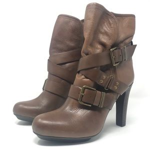 Brown Stappy Ankle Boots • DKNYC